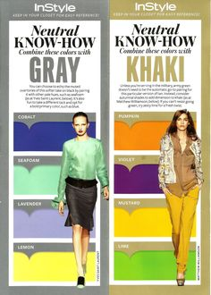 InStyle's Neutral Know-how: Gray & Khaki