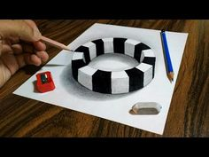 """Thanks for visiting """"ART ARENA"""". In this video I show you How to Draw a Realistic Round Ring on Paper - Trick Art Drawing for kids and adults ! 3d Pencil Drawings, 3d Art Drawing, Drawing For Kids, Drawing Skills, Easy Drawings, Illusion Drawings, Illusion Art, Art Lessons For Kids, Art For Kids"""