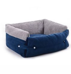 Purple comfortable dog bed