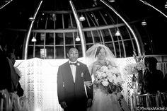 Natasha and Daniel, Mixed Wedding at Brooklyn Botanical Garden. New York Wedding, Brooklyn Wedding #Meetthemillers.  Best Wedding Photographer PhotosMadeEz. Award Winning Photographer Mou Mukherjee. Bride walking down the aisle with brother