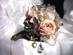 My heart stopped when I saw this brooch bouquet from Cheryl and Grace at BarbiesVintage on Etsy.  It is perfect!