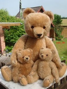 1940's Vintage German Hermann Mohair Bears....Father & sons...