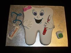 Sweet Tooth cake made for the peeps at my Dentist office