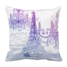 Modern Purple Chandelier Paris Eiffel Tower Pillow Case      Paris home décor is more popular than ever in fact, Paris  themed bedrooms and Paris themed living rooms are quite the home décor trend  these days. It is easy to make a Paris  themed room with the right pieces of Paris wall art, Paris throw pillows and  other Paris decorative accents. Combine  all these to make a Eifel tower / Paris paradise of your dreams right in your  home.