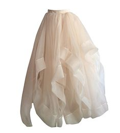 f91eca09f9 Flowerry Women Wedding Party Organza Skirt Women Prom Skirt Bridesmaid Skirt  4XL champagne -- Click