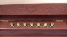 Wooden combination lock on Anniversary cabinet