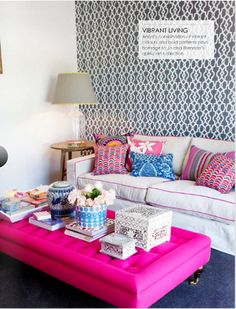 i want the ottoman!!! with a grey couch & coordinating pillows...
