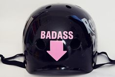 Badass Arrow Derby Helmet Vinyl Sticker / Vinyl by Representartco, $3.50