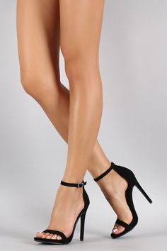 Stilettos, High Heels, Talons Sexy, Shoe Boots, Shoes Heels, Open Toe Boots, Sexy Legs And Heels, Black Strap Heels, Aesthetic Shoes