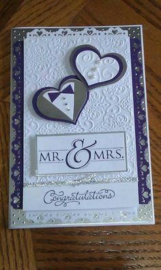 W edding Card Idea Wedding Day Cards, Wedding Shower Cards, Wedding Cards Handmade, Wedding Anniversary Cards, Greeting Cards Handmade, Engagement Cards, Embossed Cards, Congratulations Card, Love Cards