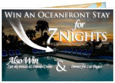 Pin This picture to enter to win a 7 Night Oceanfront Stay at the Ocean Isle Inn in Ocean Isle Beach, NC.