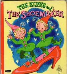 THE ELVES & THE SHOEMAKER Vtg Whitman Tell A Tale Childrens Book Hilda Miloche