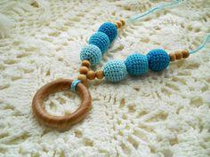 Gradient Crochet Teething Necklace Nursing Necklace di Bubuline