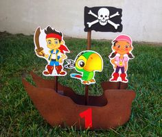 Jake and the Neverland Pirates centerpiece by uniqueboutiquebygami