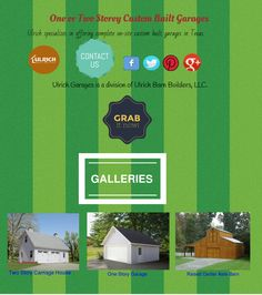 https://flic.kr/p/AHWdvZ | One or Two Storey Custom Built Garages For Sale In Texas | At Ulrich Garages our team has over 20 years experience in construction of Garages, Custom Buildings and Horse Barns. #Infographics #garagesforSale