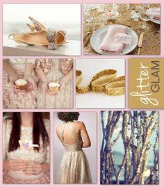 Gold + Silver glitter! So glamorous