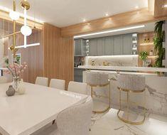 Home Decor Kitchen, Kitchen Interior, Home Interior Design, Interior Decorating, Dream Home Design, House Design, White Apartment, Home Bar Designs, Decoration