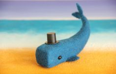 Felted whale Linсoln от FeltedTree на Etsy