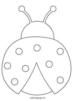 Ladybug crafts - Ladybug outline clipart coloring page Applique Patterns, Quilt Patterns, Applique Templates, Owl Patterns, Templates Printable Free, Felt Crafts, Easter Crafts, Ladybug Coloring Page, Decoration Creche