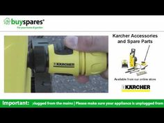 How to get started with your new Karcher pressure washer, BuySpares 'how to videos'.