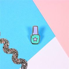 Nail Varnish Enamel Pin from Punky Pins. #punkypins #pingame #nailvarnish