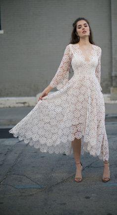 Zimmermann Blush Empire Guipure Dress