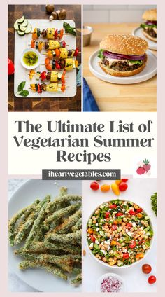 Hosting a cookout or barbecue? Try one of these summer recipes. Both vegetarians and meat eaters will love them! Summer Vegetarian Recipes, Summer Recipes, Healthy Recipes, Cookout Food, Easy Summer Meals, Picnic Foods, Batch Cooking, Meal Prep For The Week, Barbecue Recipes