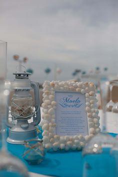 Beach wedding theme decor