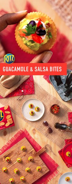 Outdoor concert season is here and there's no better way to turn your get-together into a special moment than with our RITZ Guacamole & Salsa Bites. This easy appetizer snack is the perfect opening act before the big show. Simply top crackers with creamy guacamole, light sour cream, savory black beans, fresh salsa and cilantro. You've got the stuff to make life rich!