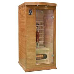 Kompaktowa sauna dla 1 osoby wyposażona m.in. w koloroterapię, radio z mp3 i jonizator powietrza.