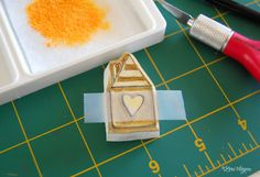 How to make ink pad from chalk pastel