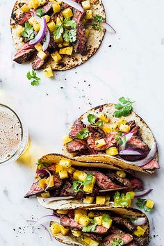 Flavor town with mangos + meat || A spin on the classic taco