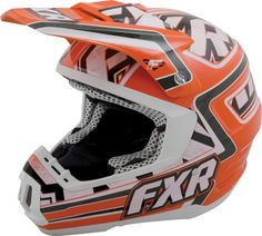 FXR Racing - Snowmobile Gear - Torque Helmet - Orange/White