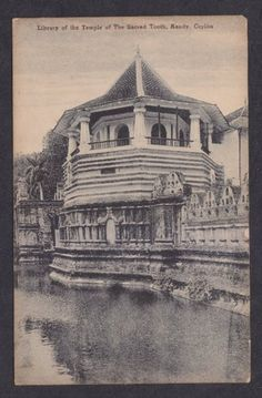 Library of the Temple of The Sacred Tooth Kandy Ceylon by Laksala