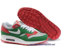 new arrivals 86e5f 3db48 Cheap Neutral Grey Washed Green Dark Red Mens 433212-061 Nike Air Max 1  Green
