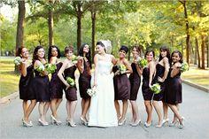 short brown bridesmaid dresses