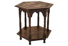 19th-C. English Victorian Carved Center Table