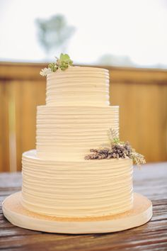 Simple Buttercream Tiered Wedding Cake
