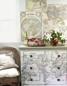 Diy decorating with maps^^