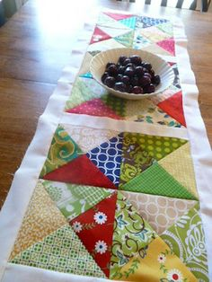 craftytammie: chopped up charms table runner Easy Peasy table runner - great for Christmas giving!