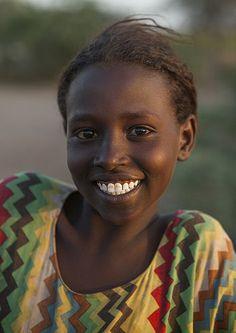 Miss Daharo, Afar Tribe Girl, Afambo, Afar Regional State, Ethiopia - Eric Lafforgue
