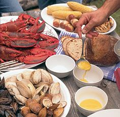 A New England Style Clambake-Clams, mussels, lobsters, and all the trimmings get steamed in a charcoal kettle grill. Via FineCooking