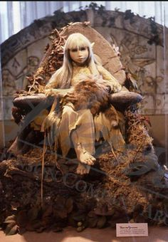 "Original ""Wendy Froud"" prop used in Jim Henson's film ""The Dark Crystal,"" 1982. Photo: ""The World of the Dark Crystal"" exhibit at the Lincoln Center Library, 1982."