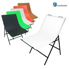 Lusana Studio Photography Photo Studio Foldable Photo Shooting Table with 5 Color Paper Background Set
