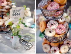 A Handmade Vintage Circus Wedding: Ashley + Ricky – Part 2  donuts
