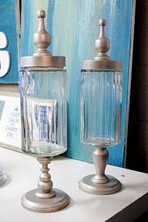 DIY apothecary style jars. #apothecary_jars #jars #DIY