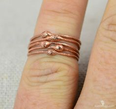 These thin copper stackable rings are the unique you've been searching for. Dainty, rustic, and original. Pure Copper Bands and Copper Dew Drops Each ring is differen. Hippie Rings, Bohemian Rings, Measure Ring Size, Rings For Her, Copper Rings, Stackable Rings, Unique Rings, Ring Designs, Just For You