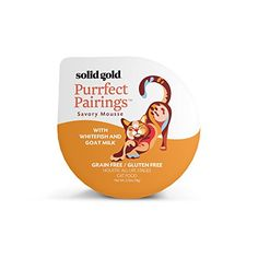 Solid Gold Purrfect Pairings Holistic Savory Mousse Wet Cat Food, Whitefish and Goat Milk, All Life Stages, 2.75oz Cup, 18 Count
