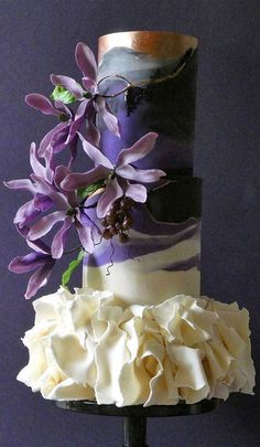 Textured Wedding Cakes, Unique Wedding Cakes, Beautiful Wedding Cakes, Wedding Cake Designs, Beautiful Cakes, Contemporary Wedding Cakes, Animal Birthday Cakes, Wedding Cake Photos, Order Cake