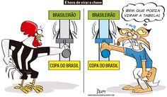 Charge do Dum (Zona do Agrião) sobre Atlético e Cruzeiro nas quartas de final da Copa do Brasil (28/09/2016) #Charge #Dum #Cruzeiro #Atlético #Galo #CopaDoBrasil #HojeEmDia